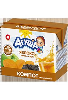 Компот Агуша Яблоко-курага-изюм, 0,2 л
