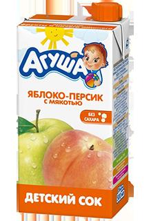 Сок Агуша Яблоко-персик 500 мл, с мякотью