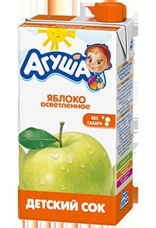 Сок Агуша Яблоко 500 мл, осветленный