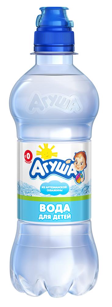 Детская вода Агуша 0,33 л, для новорожденных