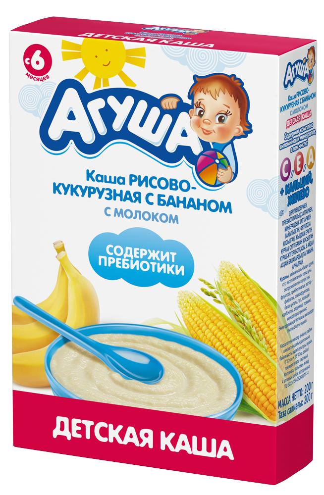 Рисово-кукурузная с бананом с молоком