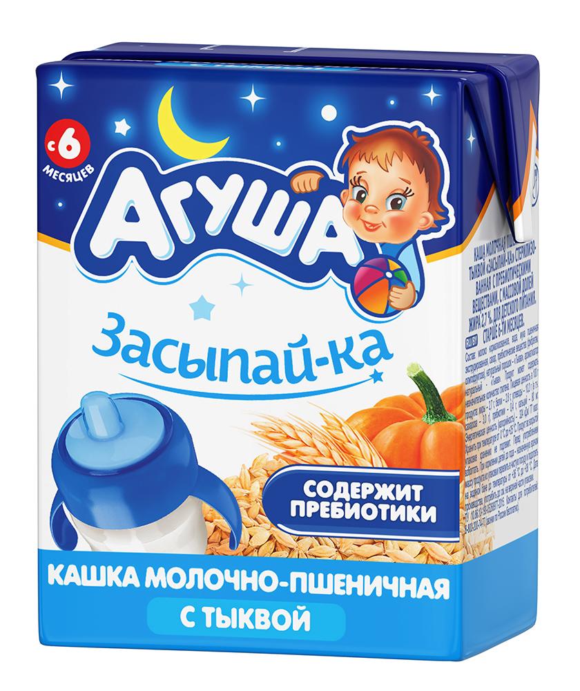 Каша Агуша пшеничная с тыквой Засыпайка 200 мл, молочная, с 6 месяцев