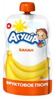 Фруктовое пюре детское Агуша Удобно в любой ситуации! Банан