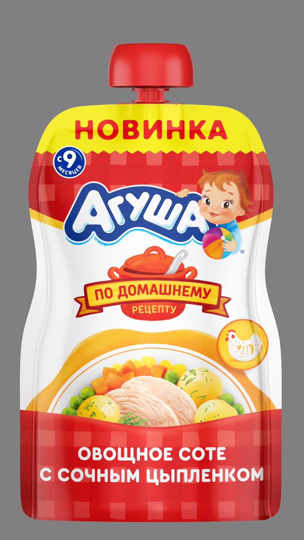 Овощное соте Агуша с цыпленком, 90г