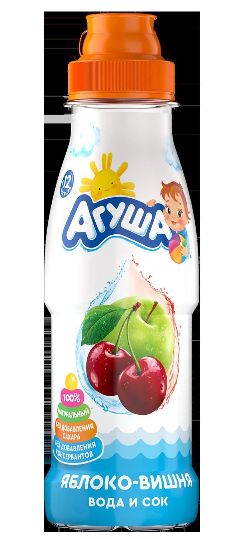 Напиток Агуша Вода и сок Яблоко-вишня, 0,3 л