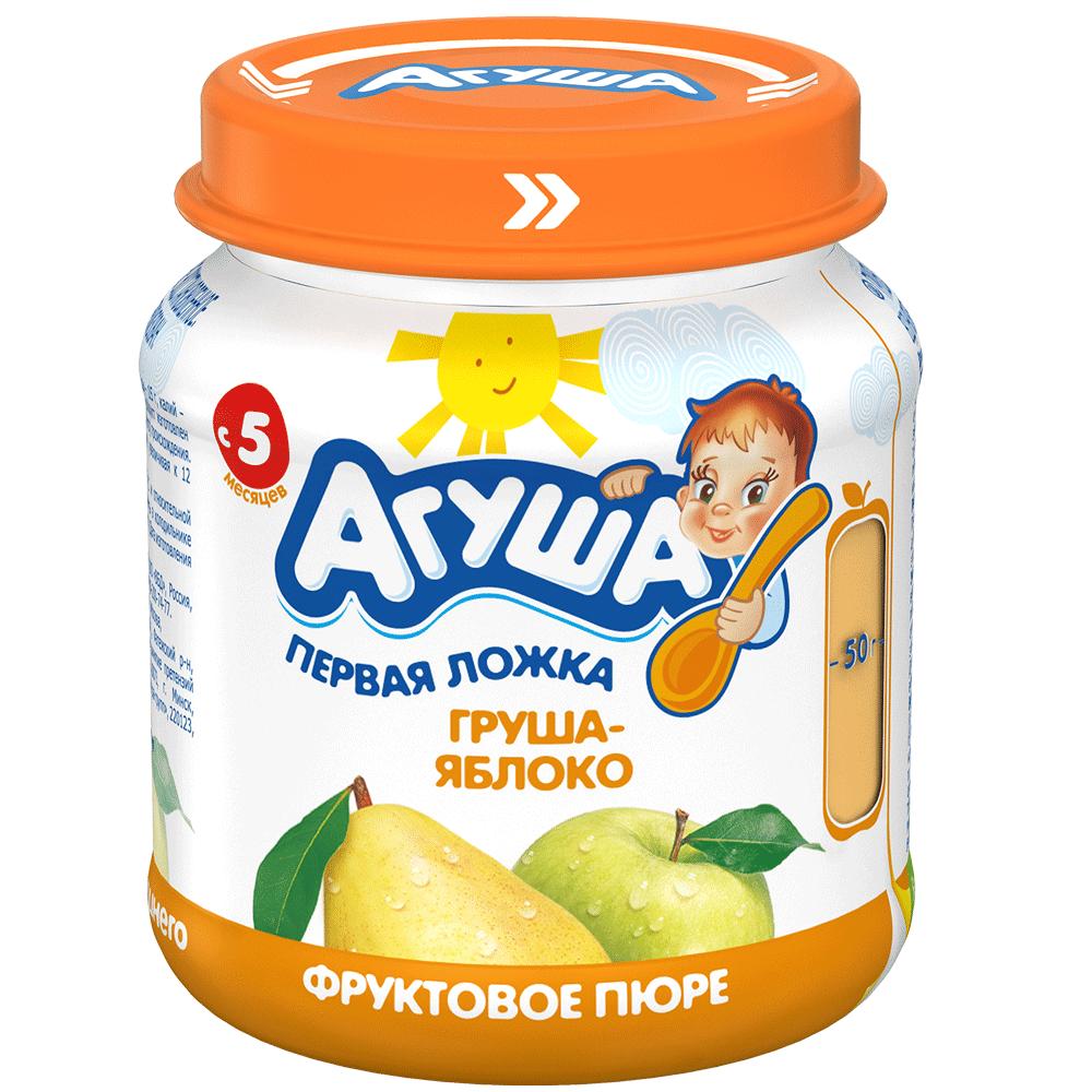 Фруктовое пюре детское Агуша Груша-яблоко