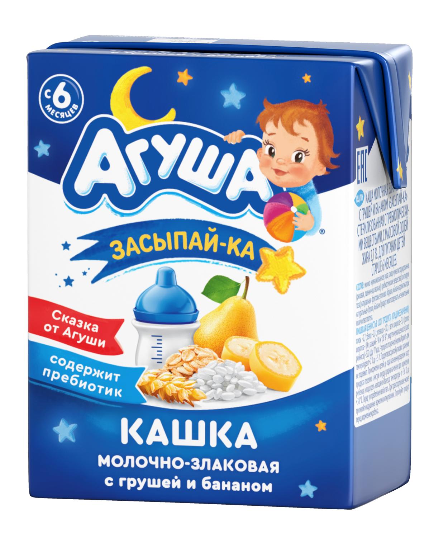 Каша Агуша с грушей и бананом Засыпай-ка 200 мл, молочно-злаковая