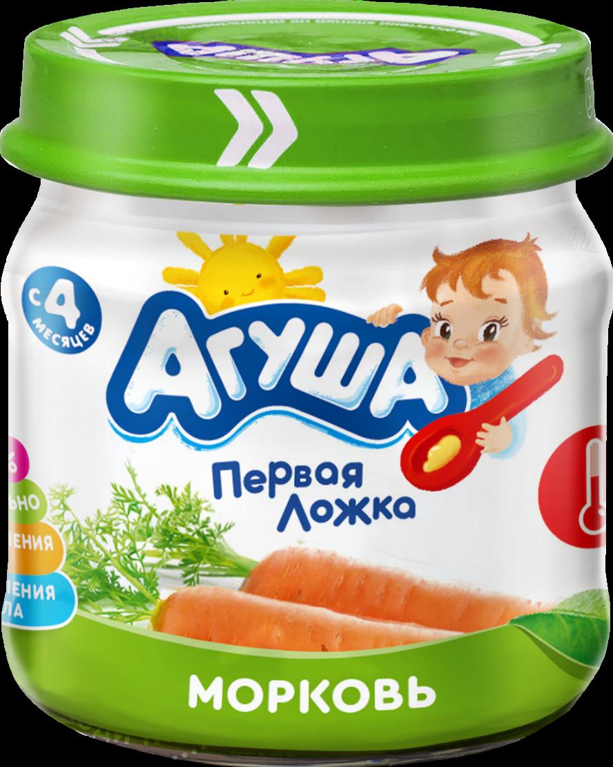Овощное пюре Агуша Морковь, 80 г