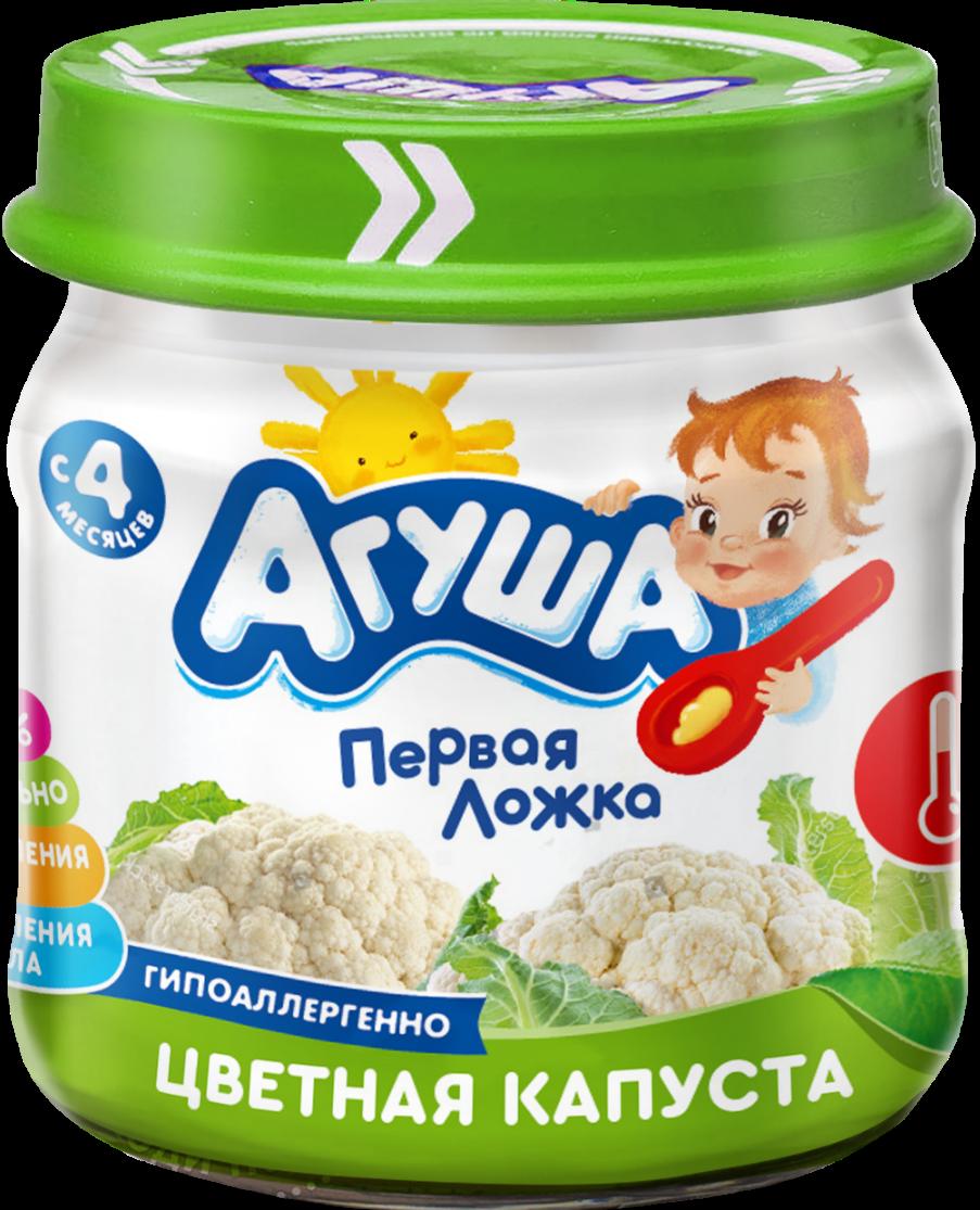 Овощное пюре Агуша Цветная капуста, 80 г