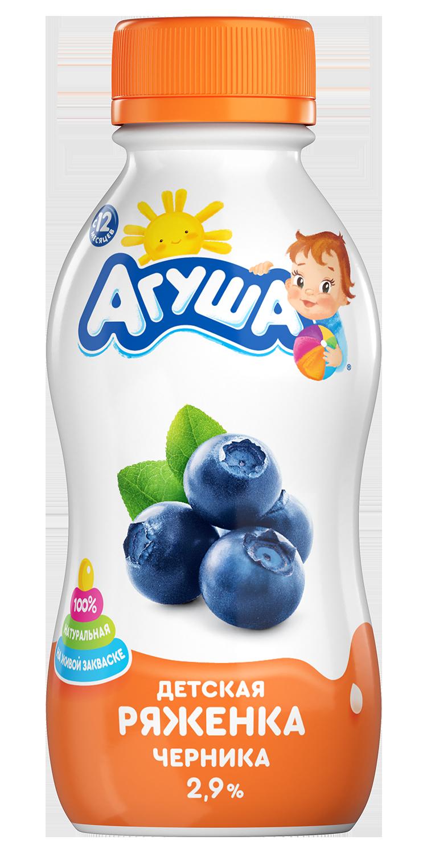 Ряженка фруктовая детская Черника