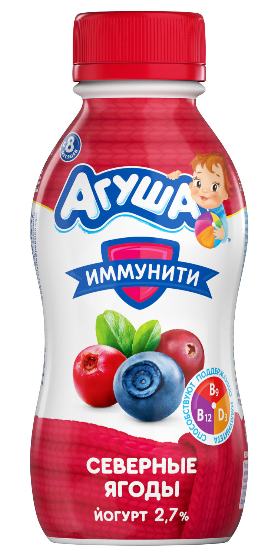Питьевой йогурт Агуша Иммунити Северные ягоды, 200 г