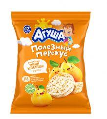 Мини-хлебцы рисовые Агуша с грушей, 30 г