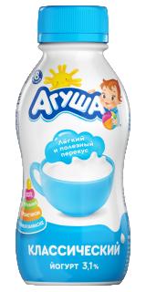 Йогурт питьевой детский Агуша Классический