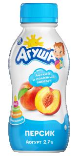 Йогурт Агуша питьевой 200 г, Персик