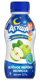 Йогурт питьевой Агуша Засыпайка с экстрактом мелиссы, 200 г