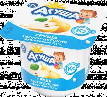Творог фруктовый детский  Агуша с натуральным витамином К2 Груша