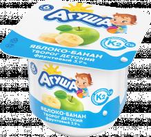 Творог фруктовый детский Агуша с натуральным витамином К2 Яблоко-банан