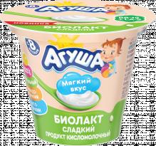 Биолакт Агуша сладкий, кисломолочный продукт, Классический, 90 г