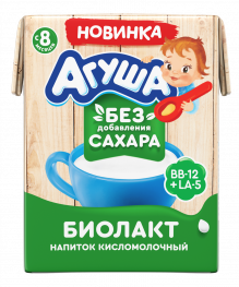 Биолакт Агуша, кисломолочный напиток, 200 мл