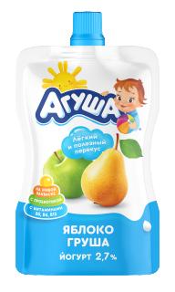 """Йогурт Агуша непроливайка """"Я Сам"""" Яблоко-груша, 85 г"""
