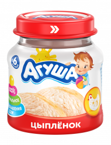 Мясное пюре Агуша Цыпленок, 80 г