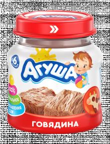 Мясное пюре Агуша Говядина, 80 г