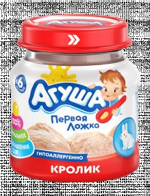 Мясное пюре Агуша Кролик, 80 г