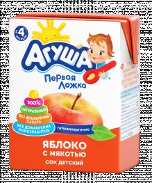 Сок Агуша Яблоко с мякотью, 200 мл
