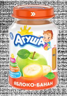 Фруктовое пюре Агуша Яблоко-банан, 200 г