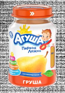 Фруктовое пюре Агуша Груша, 200 г