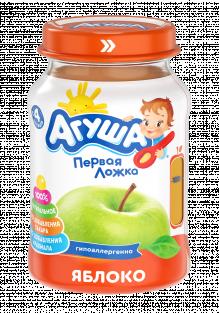 Фруктовое пюре Агуша Яблоко, 200 г