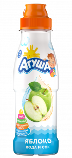 Напиток Агуша Вода и сок Яблоко, 0,3 л