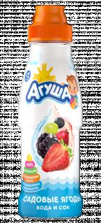 Напиток Агуша Вода и сок Садовые ягоды, 0,3 л