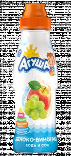 Напиток Агуша Вода и сок Яблоко-виноград, 0,3 л