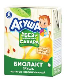 Биолакт Агуша, кисломолочный напиток, Груша, 200 мл