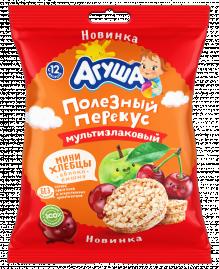 Мини-хлебцы мультизлаковые Агуша яблоко-вишня, 30 г