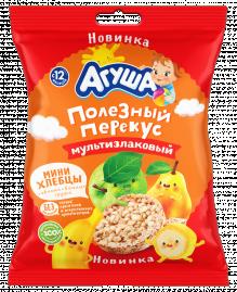 Мини-хлебцы мультизлаковые Агуша яблоко-банан-груша, 30 г