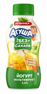 Йогурт Агуша питьевой Мультифрукт, 180 г