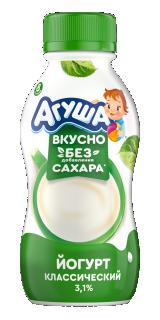 Йогурт Агуша питьевой Классический, 180 г
