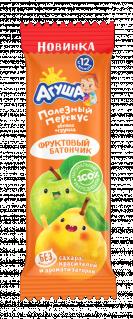 Фруктовый батончик Агуша Яблоко-груша, 15 г