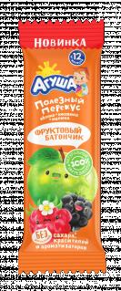 Фруктовый батончик Агуша Яблоко-ежевика-малина, 15 г